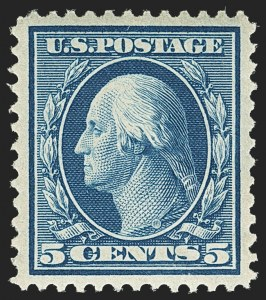 Sale Number 1156, Lot Number 3500, 1908-10 Washington-Franklin Issues (Scott 331-356)5c Blue (335), 5c Blue (335)