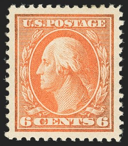 Sale Number 1156, Lot Number 3501, 1908-10 Washington-Franklin Issues (Scott 331-356)6c Red Orange (336), 6c Red Orange (336)