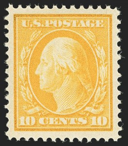 Sale Number 1156, Lot Number 3503, 1908-10 Washington-Franklin Issues (Scott 331-356)10c Yellow (338), 10c Yellow (338)