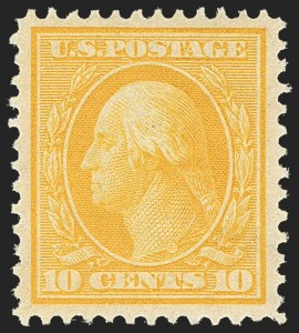 Sale Number 1156, Lot Number 3504, 1908-10 Washington-Franklin Issues (Scott 331-356)10c Yellow (338), 10c Yellow (338)