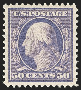 Sale Number 1156, Lot Number 3508, 1908-10 Washington-Franklin Issues (Scott 331-356)50c Violet (341), 50c Violet (341)