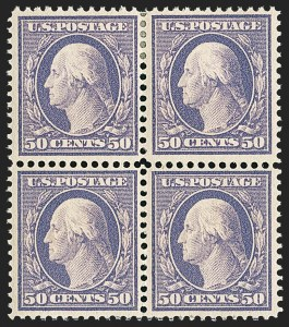 Sale Number 1156, Lot Number 3510, 1908-10 Washington-Franklin Issues (Scott 331-356)50c Violet (341), 50c Violet (341)
