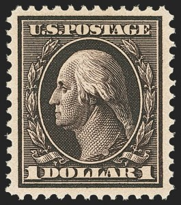 Sale Number 1156, Lot Number 3511, 1908-10 Washington-Franklin Issues (Scott 331-356)$1.00 Violet Brown (342), $1.00 Violet Brown (342)