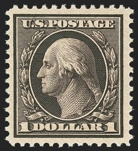 Sale Number 1156, Lot Number 3512, 1908-10 Washington-Franklin Issues (Scott 331-356)$1.00 Violet Brown (342), $1.00 Violet Brown (342)