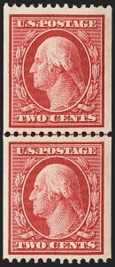Sale Number 1156, Lot Number 3516, 1908-10 Washington-Franklin Issues (Scott 331-356)2c Carmine, Coil (349), 2c Carmine, Coil (349)