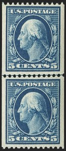 Sale Number 1156, Lot Number 3518, 1908-10 Washington-Franklin Issues (Scott 331-356)5c Blue, Coil (351), 5c Blue, Coil (351)