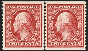 Sale Number 1156, Lot Number 3519, 1908-10 Washington-Franklin Issues (Scott 331-356)2c Carmine, Coil (353), 2c Carmine, Coil (353)