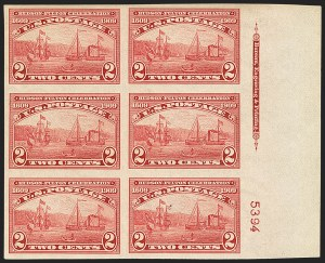 Sale Number 1156, Lot Number 3537, 1909 Commemorative Issues (Scott 367-373)2c Alaska-Yukon, 2c Hudson-Fulton, Imperforate (371, 373), 2c Alaska-Yukon, 2c Hudson-Fulton, Imperforate (371, 373)