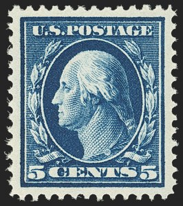 Sale Number 1156, Lot Number 3545, 1910-13 Washington-Franklin Issue (Scott 374-396)5c Blue (378), 5c Blue (378)