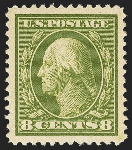 Sale Number 1156, Lot Number 3547, 1910-13 Washington-Franklin Issue (Scott 374-396)8c Olive Green (380), 8c Olive Green (380)
