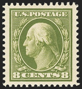 Sale Number 1156, Lot Number 3548, 1910-13 Washington-Franklin Issue (Scott 374-396)8c Olive Green (380), 8c Olive Green (380)