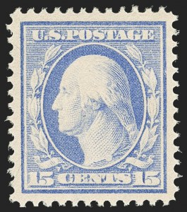 Sale Number 1156, Lot Number 3550, 1910-13 Washington-Franklin Issue (Scott 374-396)15c Pale Ultramarine (382), 15c Pale Ultramarine (382)