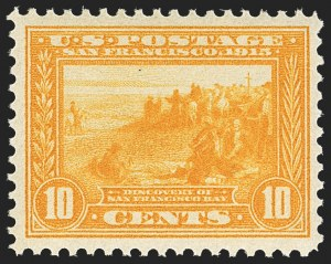 Sale Number 1156, Lot Number 3563, 1913-15 Panama-Pacific Issue (Scott 397-404)10c Orange Yellow, Panama-Pacific (400), 10c Orange Yellow, Panama-Pacific (400)