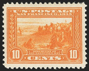 Sale Number 1156, Lot Number 3564, 1913-15 Panama-Pacific Issue (Scott 397-404)10c Orange, Panama-Pacific (400A), 10c Orange, Panama-Pacific (400A)