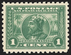 Sale Number 1156, Lot Number 3565, 1913-15 Panama-Pacific Issue (Scott 397-404)1c Panama-Pacific, Perf 10 (401), 1c Panama-Pacific, Perf 10 (401)
