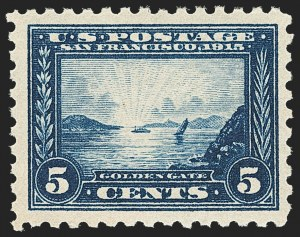 Sale Number 1156, Lot Number 3566, 1913-15 Panama-Pacific Issue (Scott 397-404)5c Panama-Pacific, Perf 10 (403), 5c Panama-Pacific, Perf 10 (403)