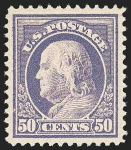 Sale Number 1156, Lot Number 3590, 1912-14 Washington-Franklin Issues (Scott 405-423)50c Violet (422), 50c Violet (422)