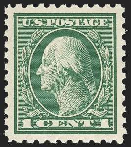Sale Number 1156, Lot Number 3594, 1913-15 Washington-Franklin Issues (Scott 424-440)1c Green (424), 1c Green (424)