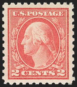 Sale Number 1156, Lot Number 3595, 1913-15 Washington-Franklin Issues (Scott 424-440)2c Rose Red, Ty. I (425), 2c Rose Red, Ty. I (425)