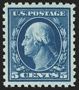 Sale Number 1156, Lot Number 3599, 1913-15 Washington-Franklin Issues (Scott 424-440)5c Blue (428), 5c Blue (428)