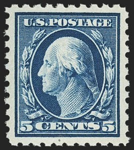 Sale Number 1156, Lot Number 3600, 1913-15 Washington-Franklin Issues (Scott 424-440)5c Blue (428), 5c Blue (428)
