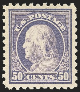 Sale Number 1156, Lot Number 3619, 1913-15 Washington-Franklin Issues (Scott 424-440)50c Violet (440), 50c Violet (440)