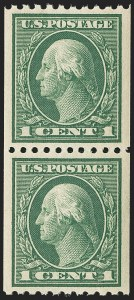 Sale Number 1156, Lot Number 3622, 1913-15 Washington-Franklin Issues, cont. (Scott 441-461)1c Green, Coil (441), 1c Green, Coil (441)