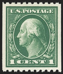 Sale Number 1156, Lot Number 3623, 1913-15 Washington-Franklin Issues, cont. (Scott 441-461)1c Green, Coil (441), 1c Green, Coil (441)
