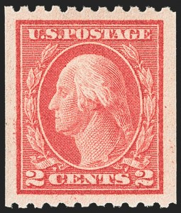 Sale Number 1156, Lot Number 3624, 1913-15 Washington-Franklin Issues, cont. (Scott 441-461)2c Carmine, Ty. I, Coil (442), 2c Carmine, Ty. I, Coil (442)