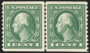 Sale Number 1156, Lot Number 3625, 1913-15 Washington-Franklin Issues, cont. (Scott 441-461)1c Green, Coil (443), 1c Green, Coil (443)