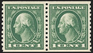 Sale Number 1156, Lot Number 3626, 1913-15 Washington-Franklin Issues, cont. (Scott 441-461)1c Green, Coil (443), 1c Green, Coil (443)