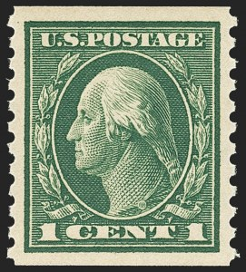 Sale Number 1156, Lot Number 3627, 1913-15 Washington-Franklin Issues, cont. (Scott 441-461)1c Green, Coil (443), 1c Green, Coil (443)