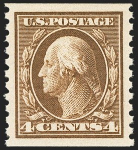Sale Number 1156, Lot Number 3633, 1913-15 Washington-Franklin Issues, cont. (Scott 441-461)4c Brown, Coil (446), 4c Brown, Coil (446)