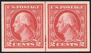 Sale Number 1156, Lot Number 3642, 1913-15 Washington-Franklin Issues, cont. (Scott 441-461)2c Carmine, Ty. I, Imperforate Coil (459), 2c Carmine, Ty. I, Imperforate Coil (459)
