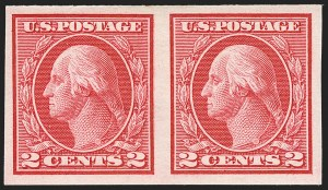 Sale Number 1156, Lot Number 3644, 1913-15 Washington-Franklin Issues, cont. (Scott 441-461)2c Carmine, Ty. I, Imperforate Coil (459), 2c Carmine, Ty. I, Imperforate Coil (459)