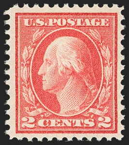 Sale Number 1156, Lot Number 3646, 1913-15 Washington-Franklin Issues, cont. (Scott 441-461)2c Pale Carmine Red, Ty. I (461), 2c Pale Carmine Red, Ty. I (461)