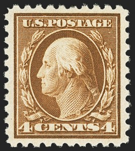Sale Number 1156, Lot Number 3653, 1916-17 Washington-Franklin Issues (Scott 462-480)4c Orange Brown (465), 4c Orange Brown (465)