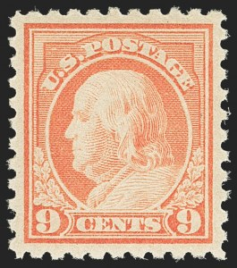 Sale Number 1156, Lot Number 3660, 1916-17 Washington-Franklin Issues (Scott 462-480)9c Salmon Red (471), 9c Salmon Red (471)