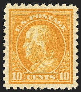 Sale Number 1156, Lot Number 3661, 1916-17 Washington-Franklin Issues (Scott 462-480)10c Orange Yellow (472), 10c Orange Yellow (472)