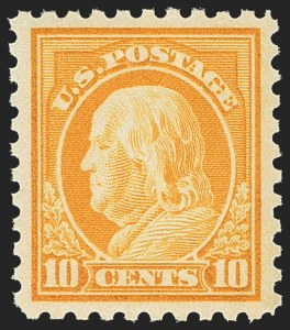 Sale Number 1156, Lot Number 3662, 1916-17 Washington-Franklin Issues (Scott 462-480)10c Orange Yellow (472), 10c Orange Yellow (472)
