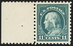 Sale Number 1156, Lot Number 3663, 1916-17 Washington-Franklin Issues (Scott 462-480)11c Dark Green (473), 11c Dark Green (473)