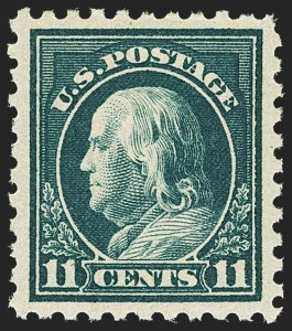 Sale Number 1156, Lot Number 3664, 1916-17 Washington-Franklin Issues (Scott 462-480)11c Dark Green (473), 11c Dark Green (473)