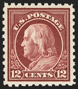 Sale Number 1156, Lot Number 3665, 1916-17 Washington-Franklin Issues (Scott 462-480)12c Claret Brown (474), 12c Claret Brown (474)