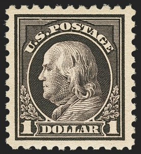 Sale Number 1156, Lot Number 3672, 1916-17 Washington-Franklin Issues (Scott 462-480)$1.00 Violet Black (478), $1.00 Violet Black (478)