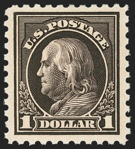 Sale Number 1156, Lot Number 3673, 1916-17 Washington-Franklin Issues (Scott 462-480)$1.00 Violet Black (478), $1.00 Violet Black (478)