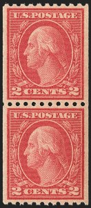 Sale Number 1156, Lot Number 3679, 1917-19 Washington-Franklin Issues (Scott 481-497)2c Carmine, Ty. II, Coil (487), 2c Carmine, Ty. II, Coil (487)