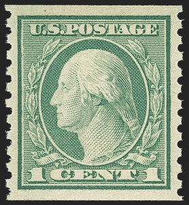 Sale Number 1156, Lot Number 3682, 1917-19 Washington-Franklin Issues (Scott 481-497)1c Green, Coil (490), 1c Green, Coil (490)