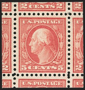 Sale Number 1156, Lot Number 3711, 1917-19 Washington-Franklin Issues, cont. (Scott 498-524)5c Rose, Error (505), 5c Rose, Error (505)