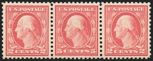 Sale Number 1156, Lot Number 3712, 1917-19 Washington-Franklin Issues, cont. (Scott 498-524)5c Rose, Error (505), 5c Rose, Error (505)