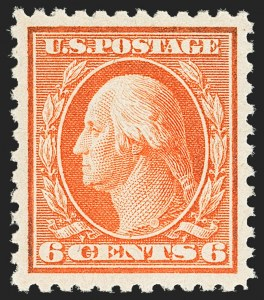 Sale Number 1156, Lot Number 3714, 1917-19 Washington-Franklin Issues, cont. (Scott 498-524)6c Red Orange (506), 6c Red Orange (506)